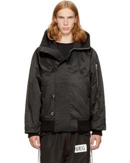 Black Hooded Flyers Jacket