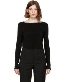 Black Low Back 13 Bodysuit