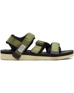Green Kisee-v Sandals