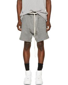 Grey Heavy Terry Sweat Shorts