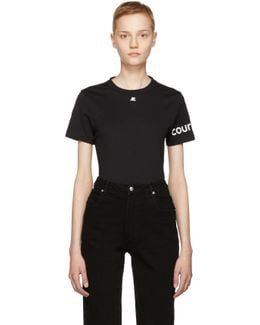 Black Logo Sleeve T-shirt