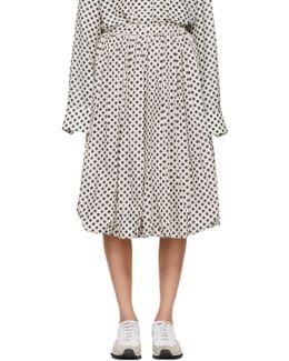 Off-white & Black Polka Dot Balloon Skirt