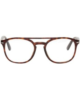 Tortoiseshell Top Bar Glasses