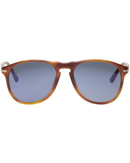 Tortoiseshell Square Aviator Sunglasses