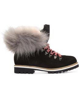 Black Suede & Fur Boots