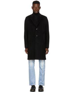 Black Unconstructed Classic Coat