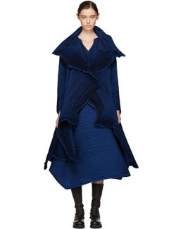 Blue Polygon Coat