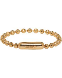 Gold Ball Chain Bracelet