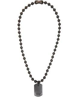 Black Limited Edition Classic Chain 4 Necklace