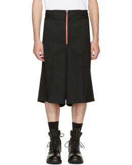 Black Wool Boxer Shorts