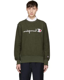 Green Reversed Logo Sweatshirt