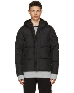Black Hooded Down Jacket