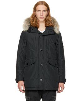 Black Down & Fur Jacket
