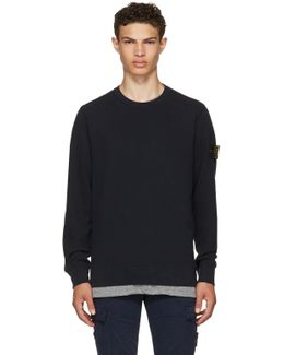Navy Logo Classic Sweatshirt