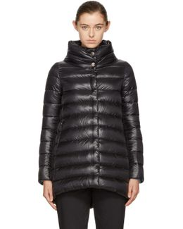 Black Down A-line Jacket