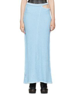 Blue Lapped Fleece Skirt