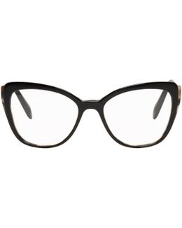 Black & Gold Cat Eye Glasses