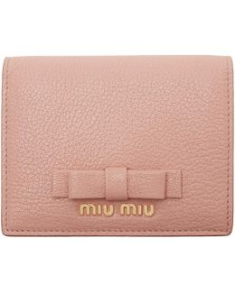Pink Leather Bow Wallet