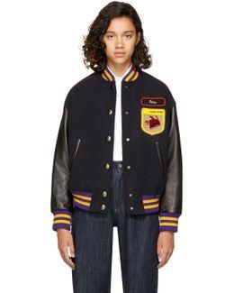 Navy Fox & Roy Varsity Jacket
