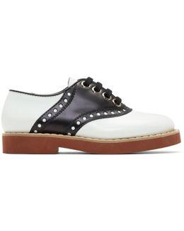 Black & White Bicolor Saddle Shoes
