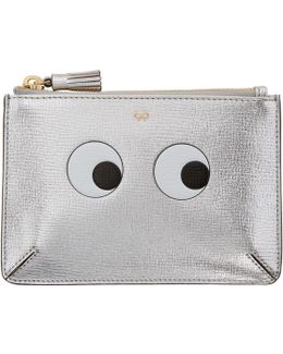 Silver Small Eyes Loose Pocket Coin Pouch