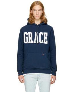 Navy 'grace' Hoodie