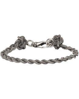 Silver Braided Knots Bracelet
