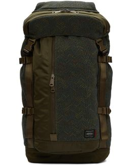 Green Porter Edition Flap Backpack