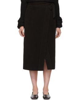 Black Georgia Wrap Skirt
