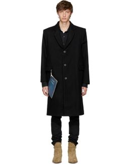 Black Wool 'stranger' Overcoat