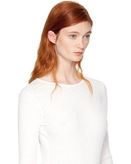 Gold Stripe Pearl Ear Cuff