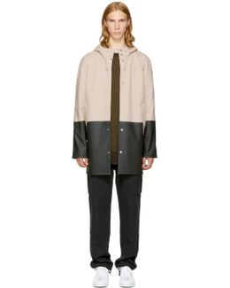 Ssense Exclusive Beige & Black Stockholm Raincoat