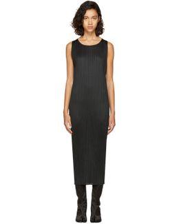 Black Pleated Basic Tank Dress