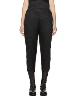 Black Thicker Bounce Trousers