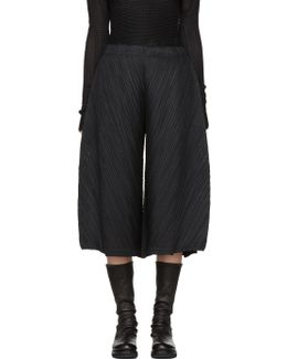 Black Thicker Bounce Wide Trousers