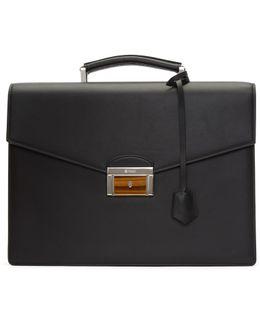 Black Double Gusset Briefcase