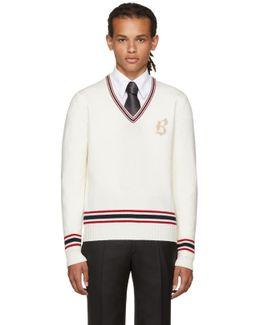 Off-white Logo V-neck Sweater