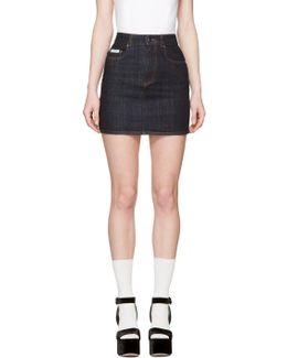 Navy Denim Miniskirt