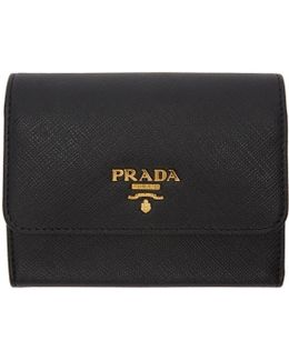 Black Saffiano Trifold Wallet