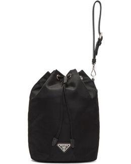 Black Nylon Bucket Pouch