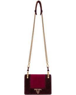 Burgundy & Pink Velvet Pattina Bag
