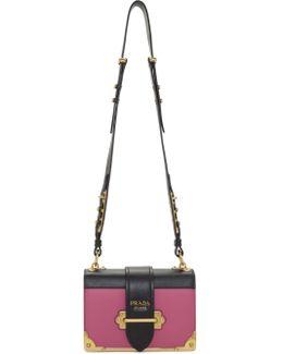 Pink & Black Cahier Flap Bag