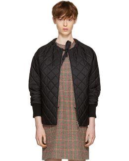 Black Down Collarless Jacket