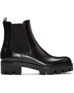 Black Lug Sole Chelsea Boots