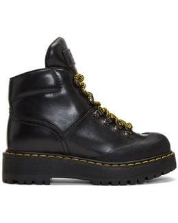Black Lug Sole Hiking Boots