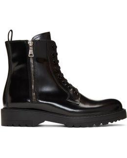 Black Military Combat Boots