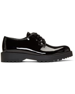 Black Patent Lug Sole Oxfords