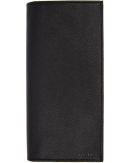 Black Long Travel Wallet