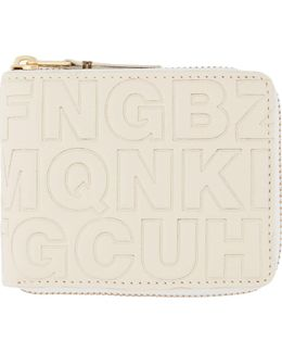 Cream Letter Embossed Wallet