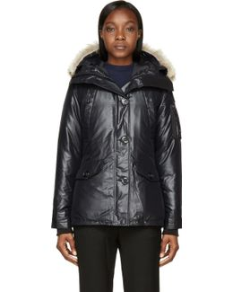Black Down Fur-trimmed Montebello Jacket